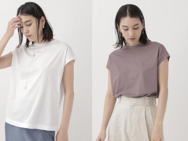 画像: デビューシーズンから継続して人気の高い「アームレットTシャツ」¥9,350 きれいめに着られる素材とデザインで、大人から支持を得ています。 出典:カオス