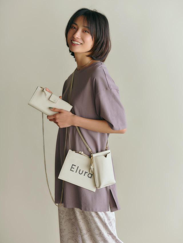 画像: スマートフォンが入るスマミニショルダーバッグなど、ミニマルなデザインの小物シリーズ「スマミニ」も展開 出典:エルーラ