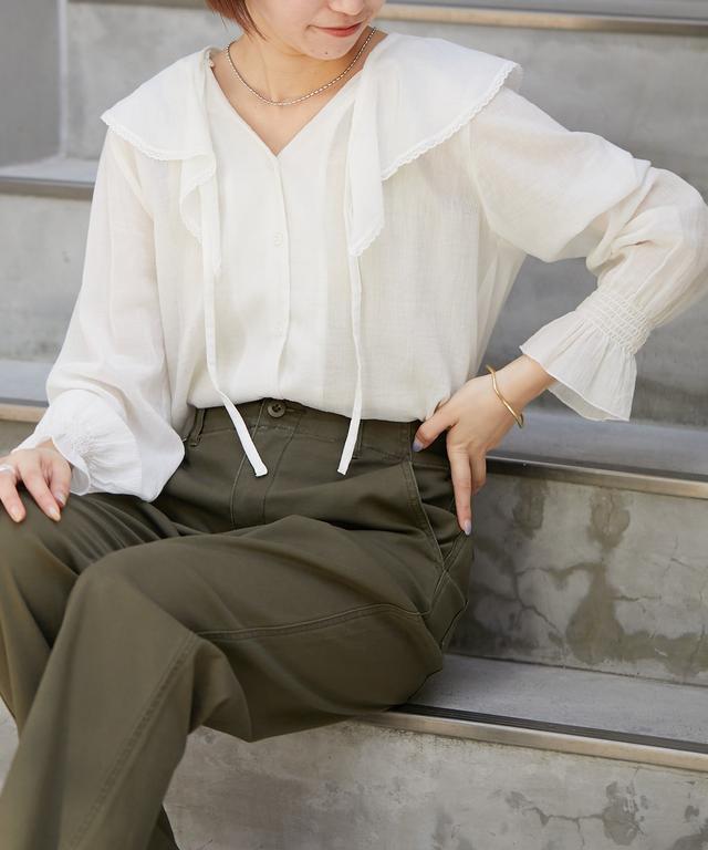 画像: 2WAYラッフルカラーブラウス | CIAOPANIC TYPY(チャオパニックティピー)レディース | PAL CLOSET(パルクローゼット) - パルグループ公式ファッション通販サイト