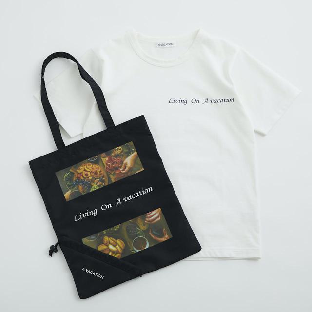 画像: Tシャツ¥11,000、バッグ¥5,500【ア バケーション】 出典:ユナイテッドアローズ
