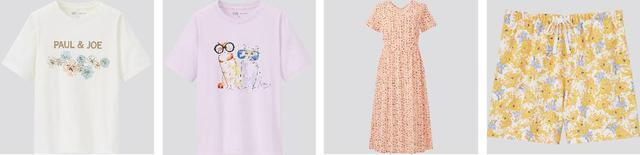 画像: Tシャツ2柄4色1,500円 ワンピース1柄3色2,990円 ショートパンツ4柄8色1,500円 出典:ftn