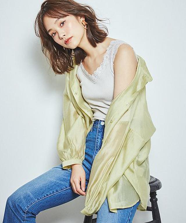 画像: [Qoo10] ウィゴー : シアーボリュームスリーブシャツ シャツ ... : レディース服