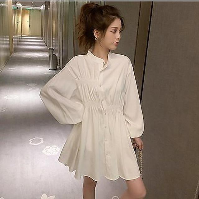 画像1: [Qoo10] シャツワンピース レディース きれいめ ... : レディース服