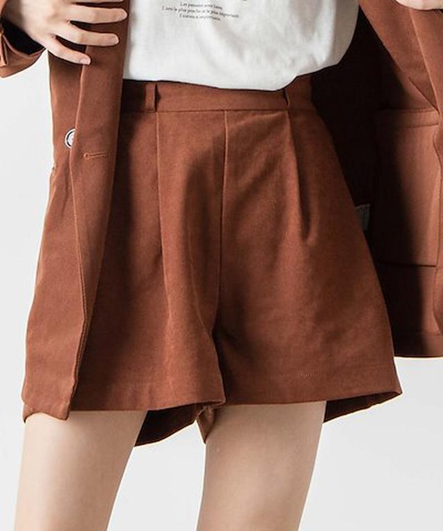 画像: [Qoo10] ウィゴー : スウェードライクタックショートパンツ W... : レディース服