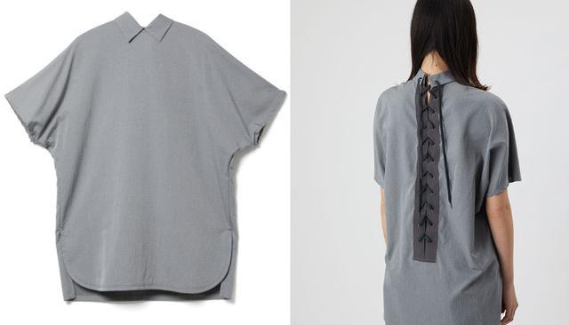 画像: 「バック レースアップ シャツ グレイ」¥31,900【ディーベック】 出典:ディーベック