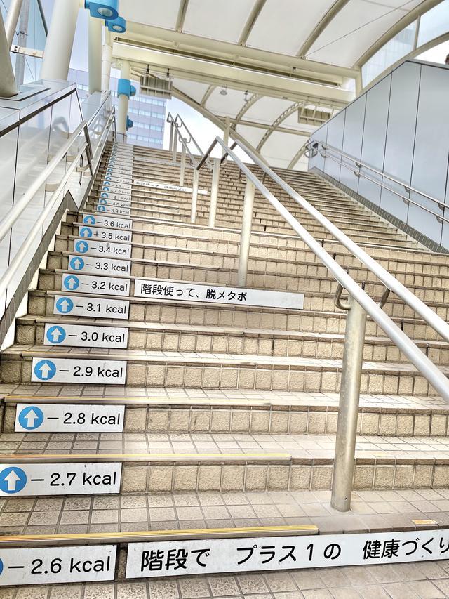 画像: カロリー付き階段?!