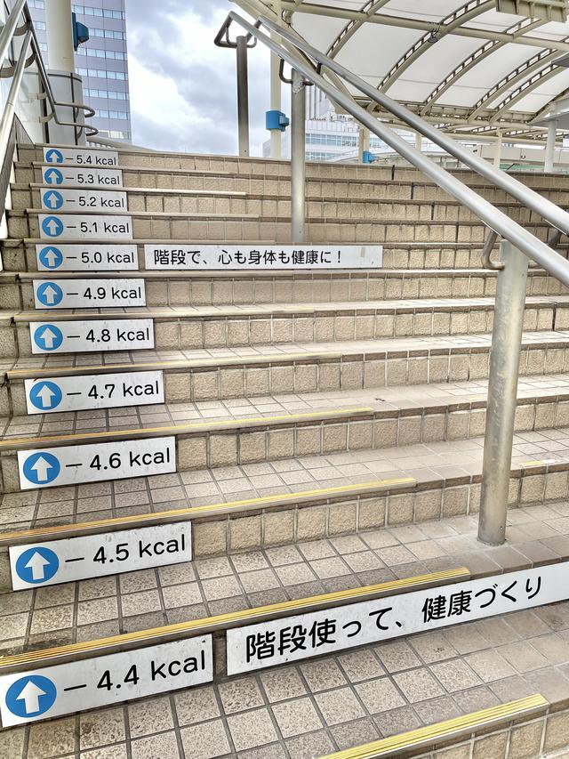 画像: 階段全て上り切ったら何カロリー!?