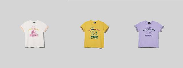 画像: 左から、PEANUTS X MARC JACOBS THE T-SHIRT 15,400円 出典:ftn