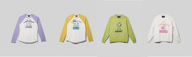 画像: 左から、PEANUTS X MARC JACOBS THE BASEBALL T-SHIRT 19,800円 /PEANUTS X MARC JACOBS THE SWEATSHIRT 36,300円 ※オンラインおよびPOP UP SHOP先行品 出典:ftn