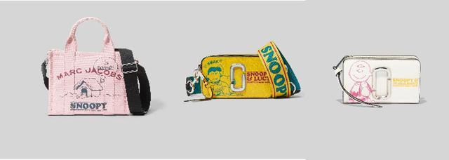 画像: PEANUTS X MARC JACOBS THE SNOOPY MINI TOTE BAG 36,300円 /PEANUTS X MARC JACOBS THE SNAPSHOT 56,100円 /PEANUTS X MARC JACOBS THE SNAPSHOT SNOOPY COMPACT WALLET 34,100円 出典:ftn