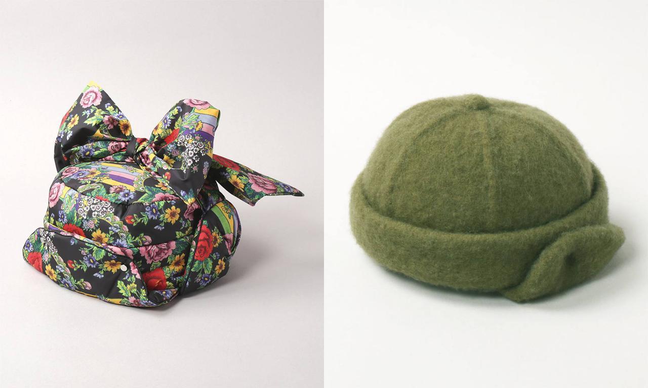 画像: 左から「BALLON」¥12,650、「CF BASQUE EARFLAPS ROLL CAP」¥12,650 出典:CA4LA