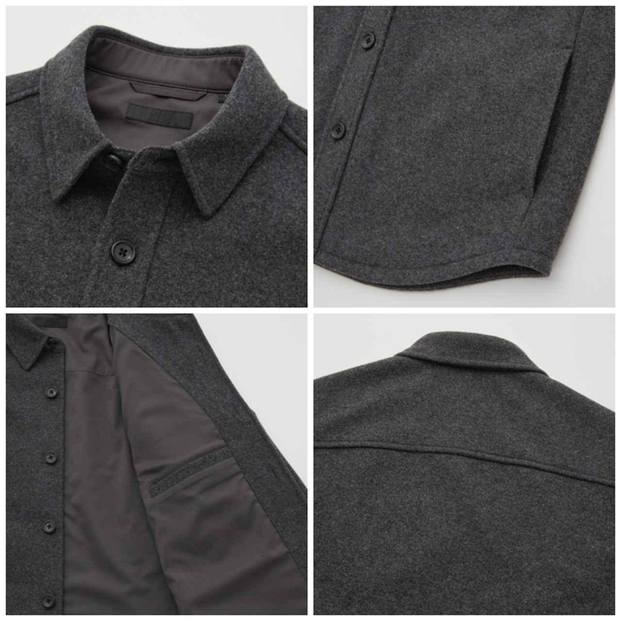 画像: 「オーバーシャツ ジャケット」(ダークグレー)¥4,990 出典:ユニクロ