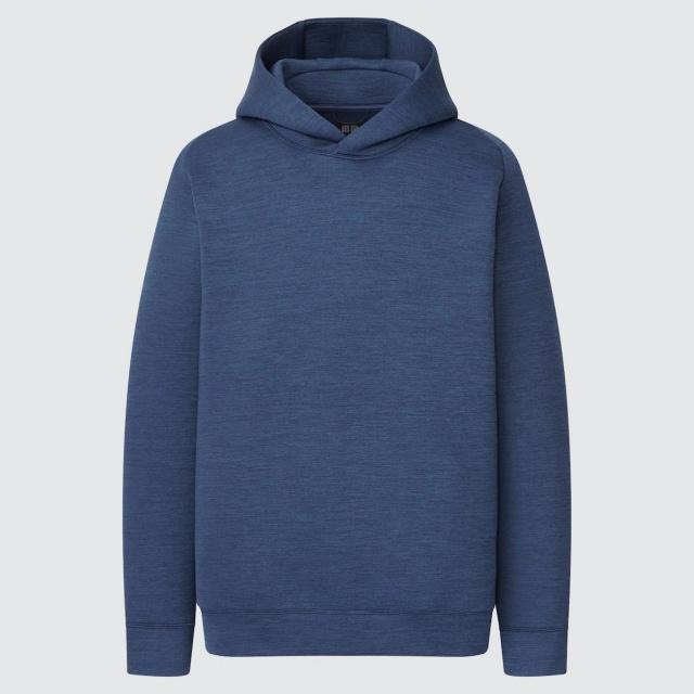 画像: 「ウルトラストレッチドライスウェットプルパーカ(長袖)」(ブルー)¥2,990 出典:ユニクロ