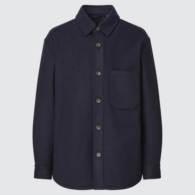 画像: 「オーバーシャツ ジャケット」(ネイビー)¥4,990 出典:ユニクロ