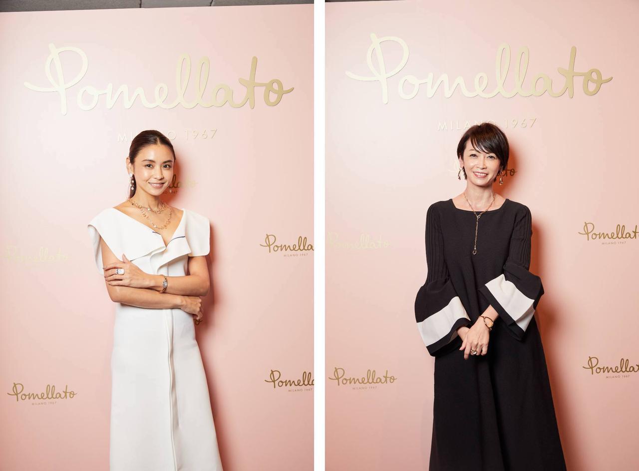 画像: 左からモデルの滝沢眞規子さん、タレントの辺見えみりさん 出典:ポメラート展
