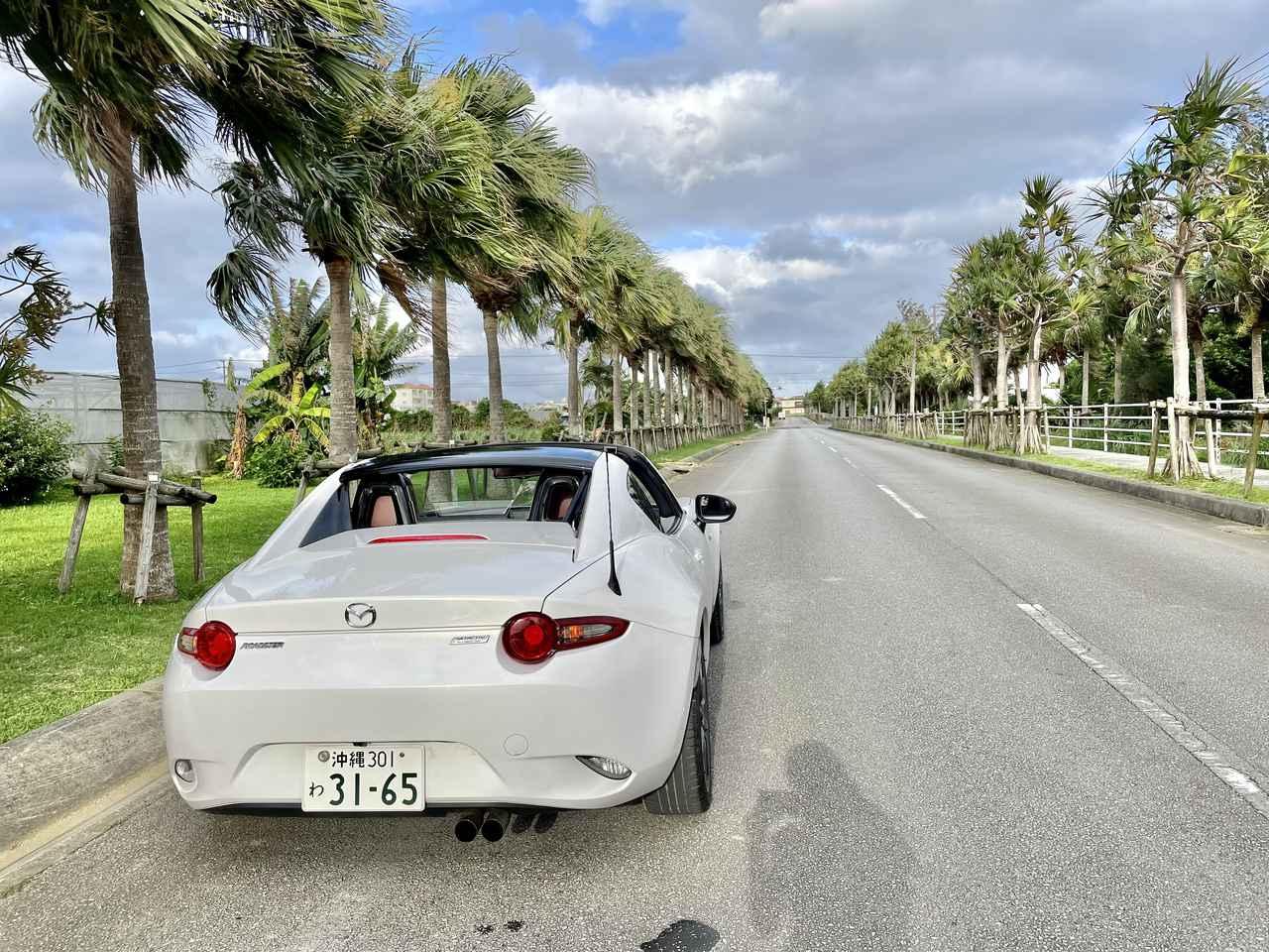 画像: 南国の景色とマッチする車を