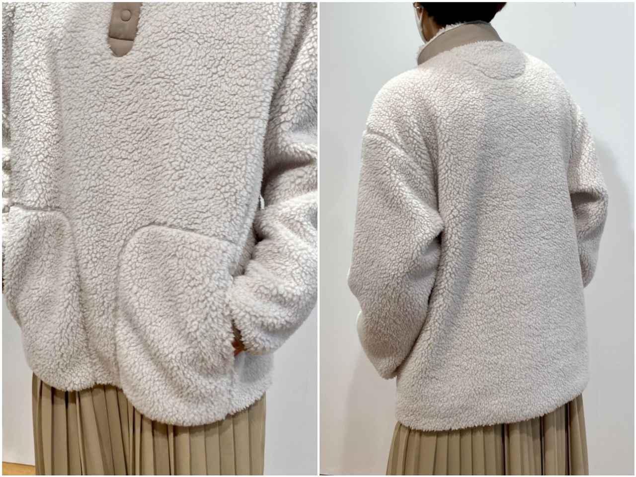 画像2: フリースオーバーサイズプルオーバー¥2,990/ユニクロ(ユニクロ アンド ホワイトマウンテニアリング) 出典:fashion trend news