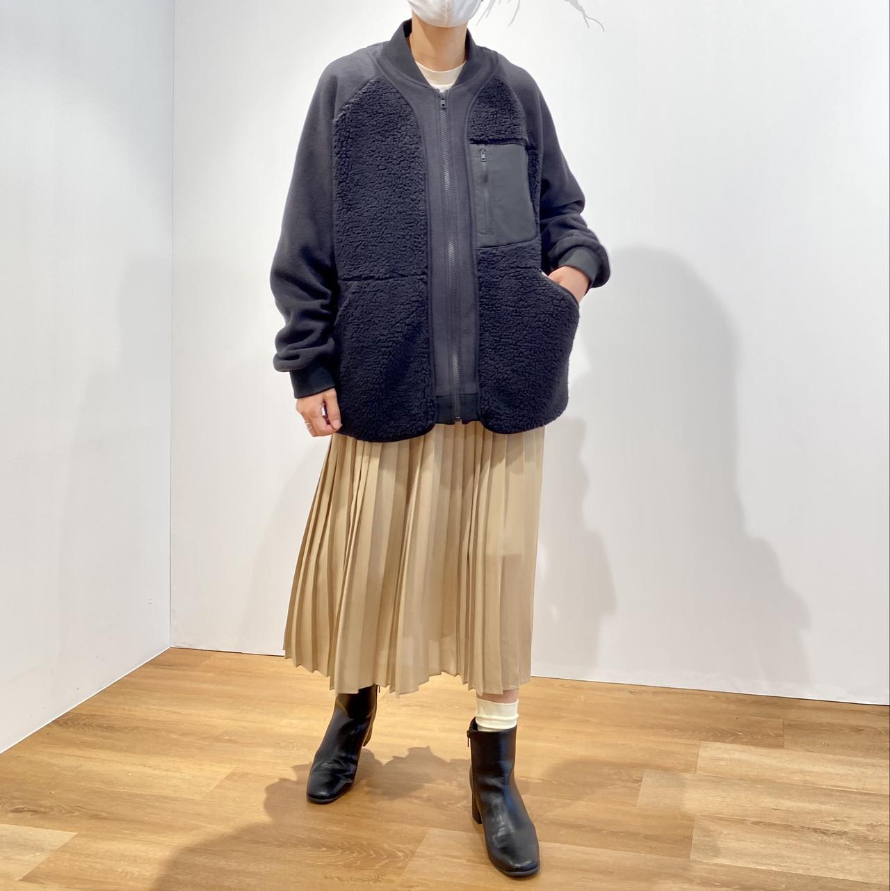 画像1: フリースオーバーサイズジャケット¥4,990/ユニクロ(ユニクロ アンド ホワイトマウンテニアリング) 出典:fashion trend news