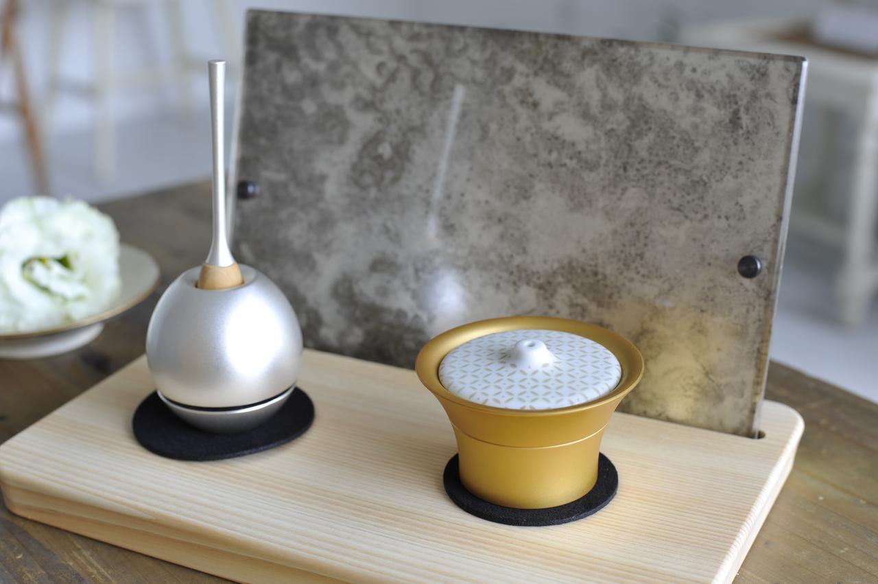画像: 左:Cherin/チェリン(銀色) 右:Caroma/キャロマ(金色) 奥:Picstal/ピクスタル(斑紋純銀色)