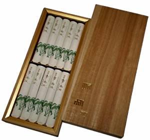画像: 玉初堂のお線香 清澄香樹林 進物桐箱短寸10把入