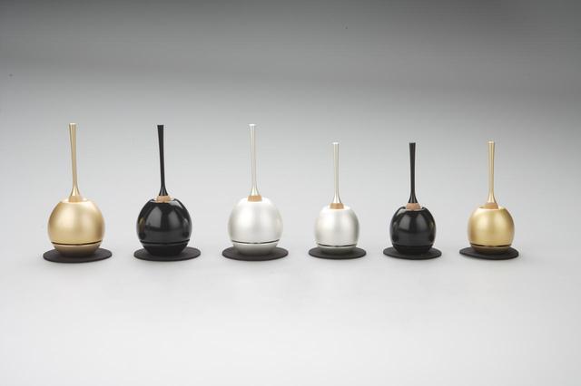 画像: 左から(Cherin:金色・黒色・銀色、Cherin mini:銀色・黒色・金色)