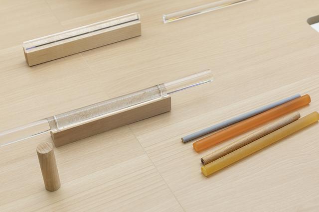 画像: りん棒も、木、樹脂、ゴムなどさまざまな素材を、太さを変えながら試した