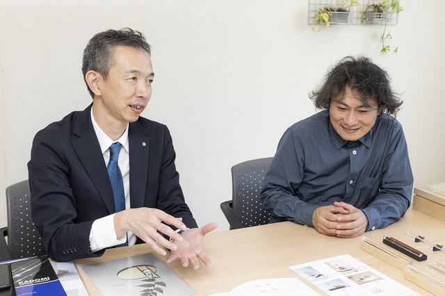 画像: 左:カドミ光学工業 柴崎さん 右:クラウドデザイン 三浦さん