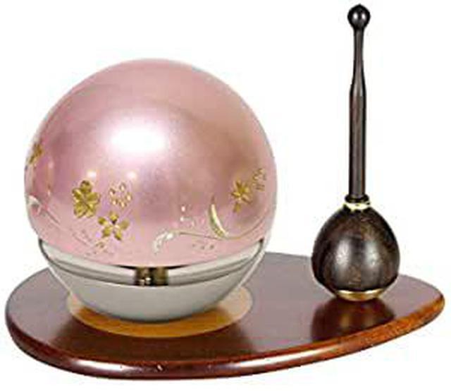 画像: 唐木や たまゆらりん1.8寸3点セット(ピンク)彫刻入り