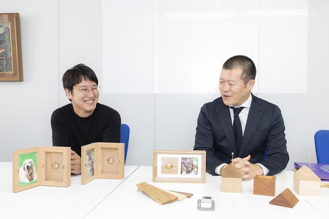 画像: 写真左から、デザイナーの菊池光義さん、株式会社神原の山口剛さん