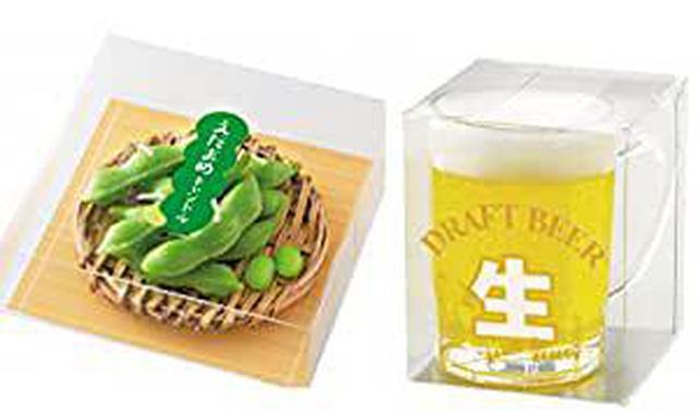 画像: 「一緒に一杯飲みましょう」 枝豆とビールセット ロウソク
