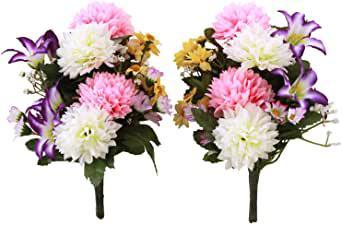 画像: エゾ菊 と ミニリリー のプチ花束