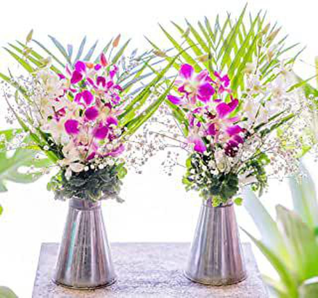 画像: お供え花 一対二束