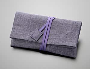 画像: 数珠袋 麻 紫
