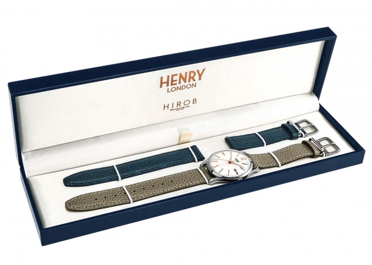画像2: 【数量限定】英国の腕時計ブランド「ヘンリーロンドン」がベイクルーズグループ設立40周年記念モデル「HENRY LONDON×HIROB スペシャルコラボウォッチ」を発売!