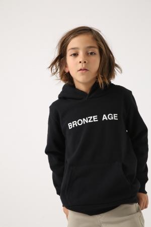 画像: 【KIDS】 ◆BRONZE AGE RIB HOODIE 252CSM90-001I ¥4,990+税 COLOR:WHITE、BLACK SIZE:S、M、L ※キッズサイズ
