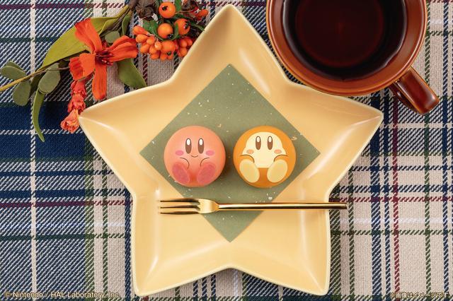 """画像: カービィとワドルディの全身を丸い""""もちもち和菓子""""で再現!"""