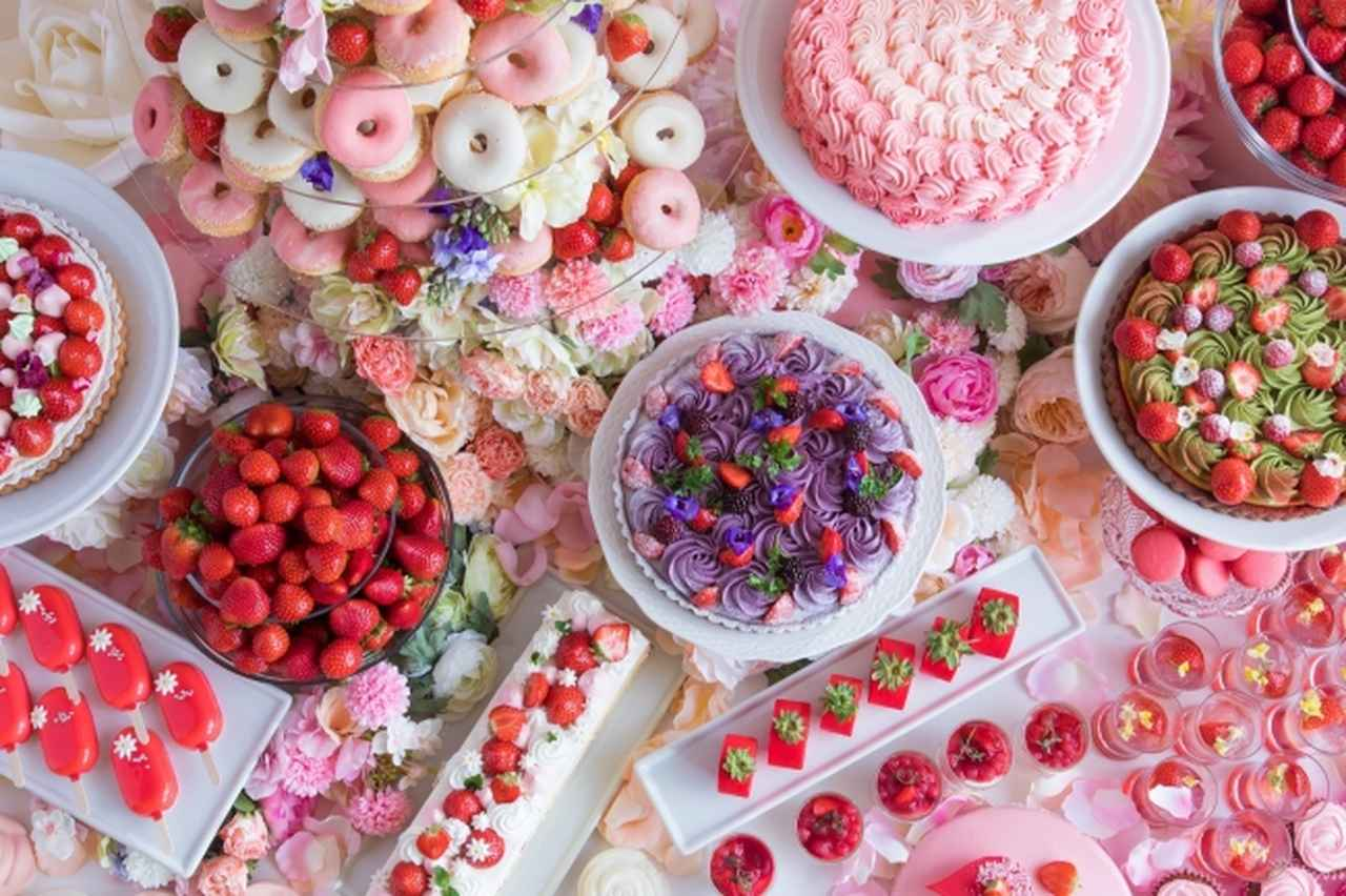 画像1: 花の妖精が集う[ストロベリーデザートビュッフェ] ~お花の世界にかこまれて~