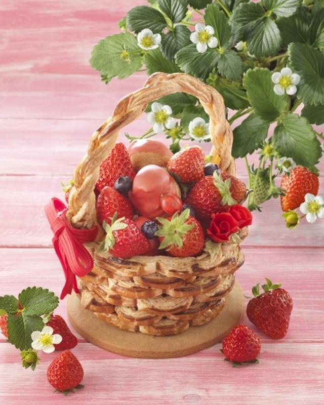 画像1: ワクワクがいっぱい詰まった、かご型の苺タルトパイ「いちご摘み」