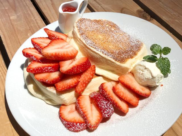 画像4: 極上のふわとろ『シルキーパンケーキ』と、いちごのコラボ!