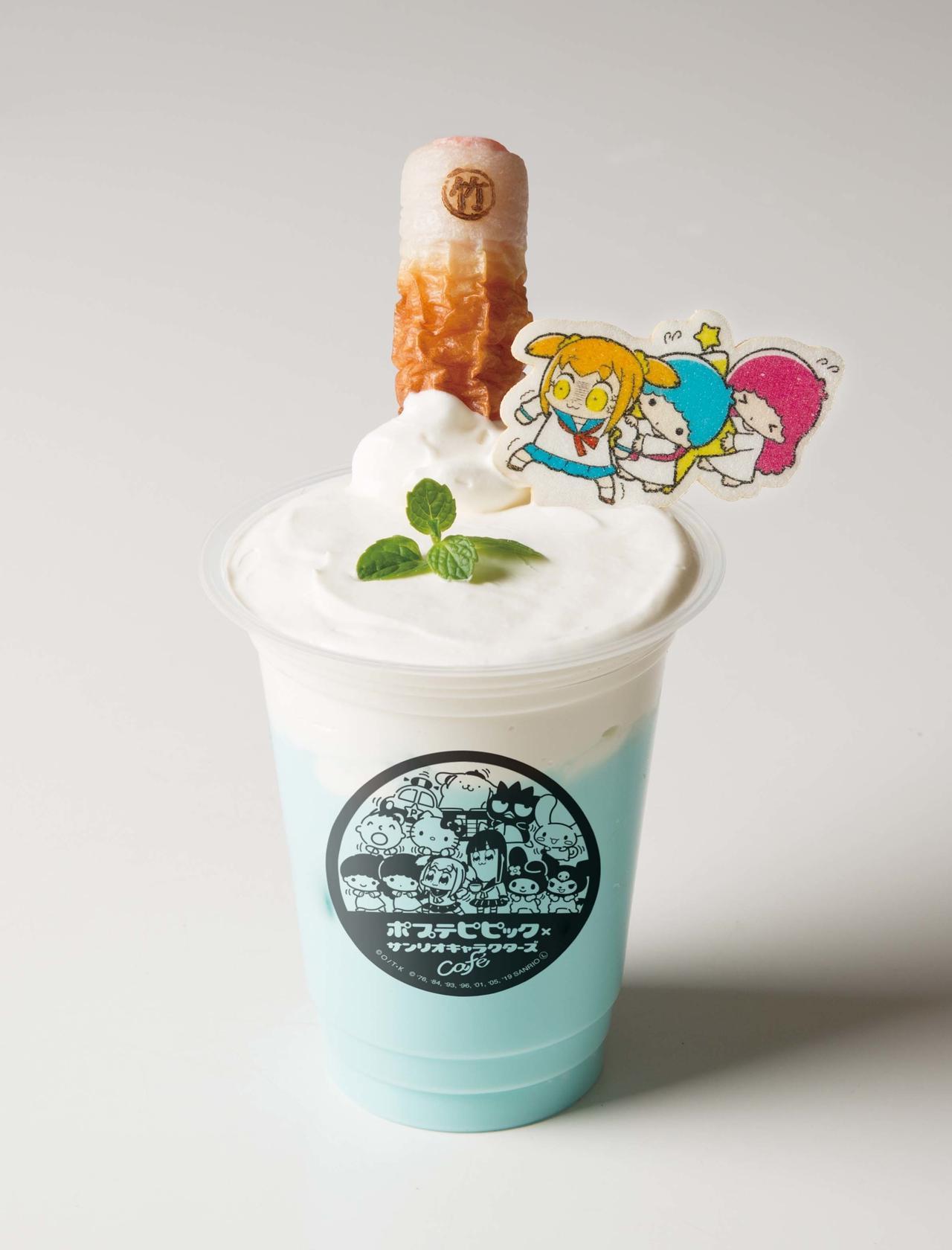 画像4: ポプテピピック×サンリオキャラクターズの コラボカフェが期間限定でオープン