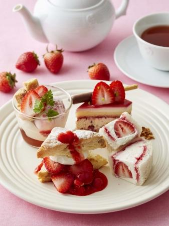 画像: 【Afternoon Tea】ポッキー初の公式カフェスイーツを提案!春の訪れを告げる<フレジェ>をイメージした新作のいちごスイーツ登場