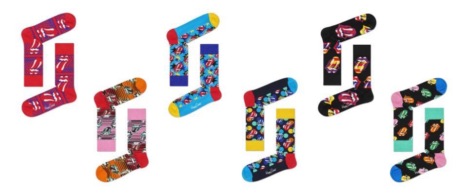 画像2: 「Happy Socks(ハッピーソックス)」と「The Rolling Stones(ザ・ローリング・ストーンズ)」初のコラボレーション商品が発売!