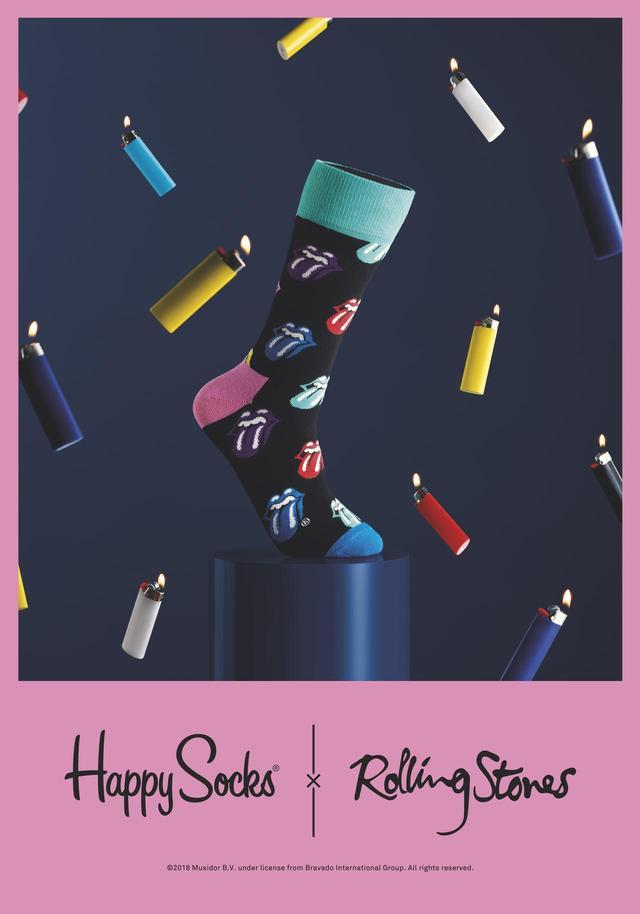 画像1: 「Happy Socks(ハッピーソックス)」と「The Rolling Stones(ザ・ローリング・ストーンズ)」初のコラボレーション商品が発売!