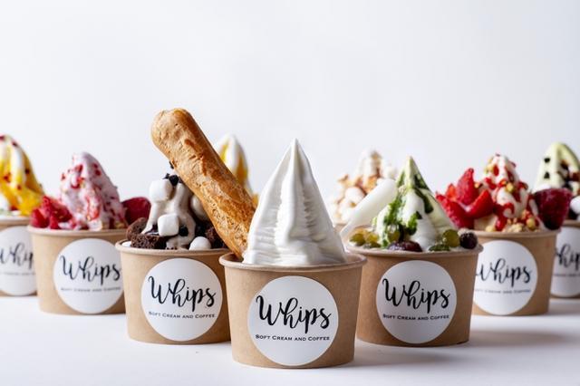 画像1: スイーツのようなソフトクリーム専門店「Whips(ホイップス)」が阪急西宮ガーデンズにオープン!