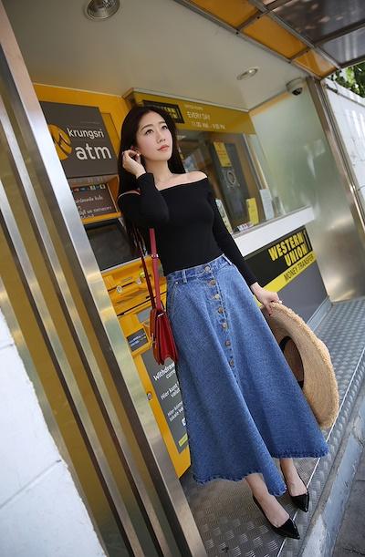画像5: 【夏到来!】デニムロングスカートのコーディネート5選