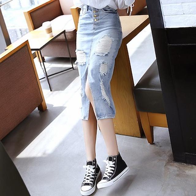 画像: [Qoo10] デニムスカート : レディース服