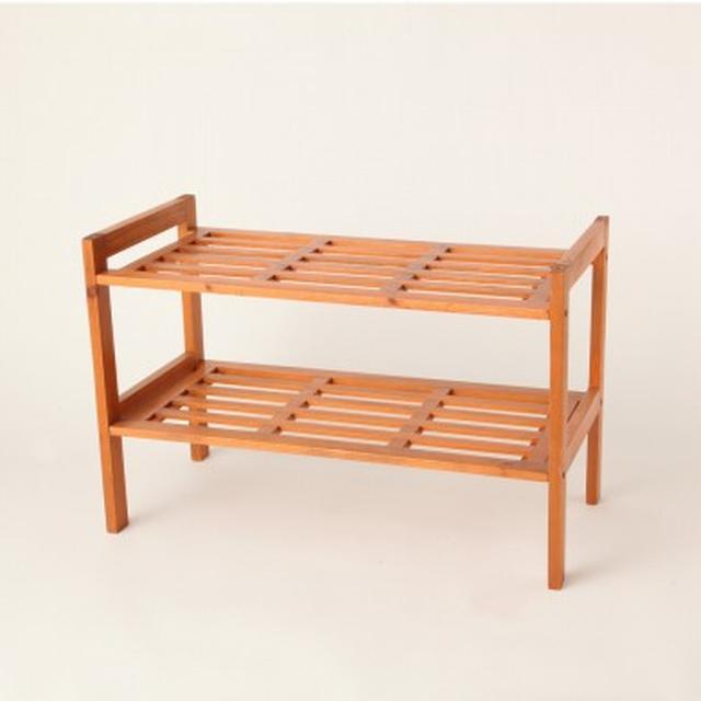 画像: 木製スタック式シューズラック