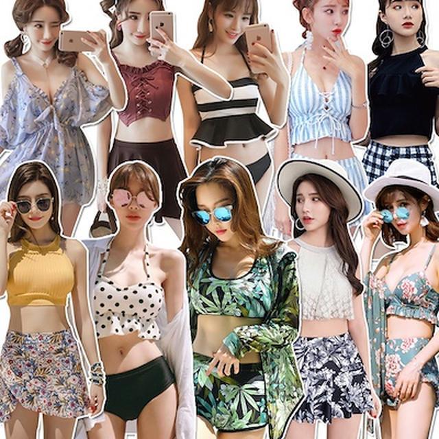 画像: [Qoo10] 水着韓国ファッション ビキニワンピース : レディース服