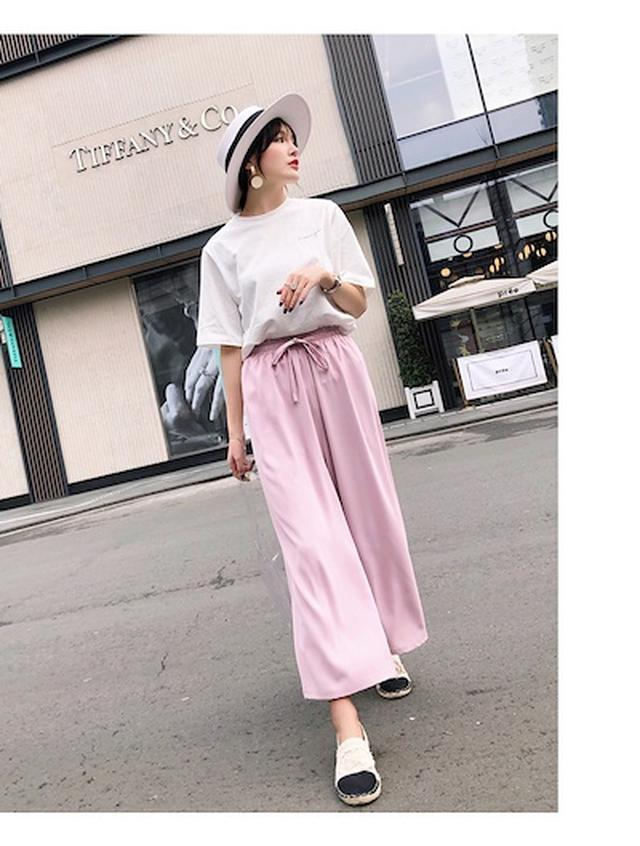 画像: [Qoo10] 春注目のペールカラーらくちんワイドパンツ : レディース服