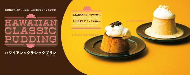 画像1: ハワイアンカフェ「hole hole cafe&diner」が提案する2つのクラシックプリンが期間限定で登場!